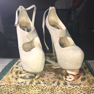 Shoes - Nude Ankle Strap Pumps
